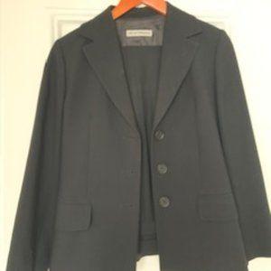 Emporio Armani black wool pant suit size 6
